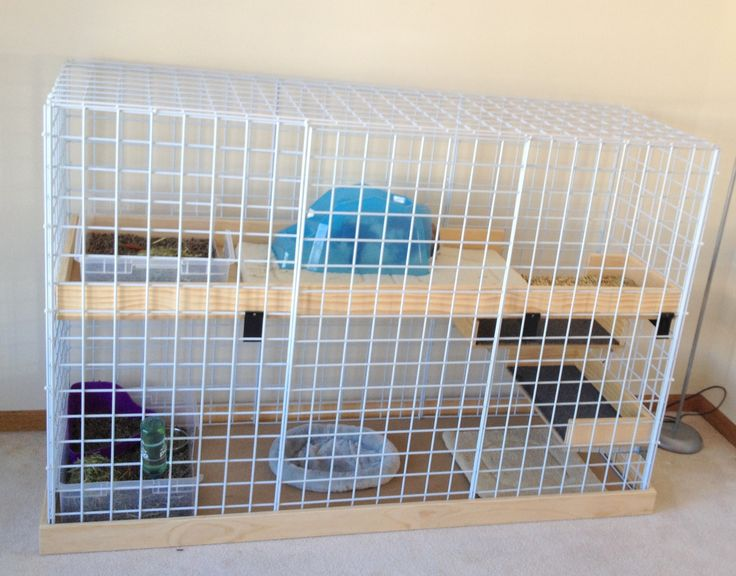 This is a 2 x 6 ft, 2 story Bunny Condo cage my husband made for Lola our Holland Lop Ear Rabbit.  She loves it!