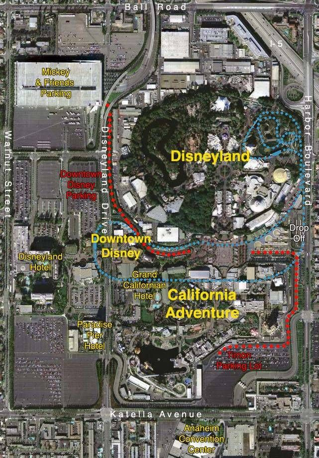 Maps Of The Disneyland Resort Places In My Heart Disneyland