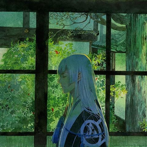 我慢慢把图搬过来…#刀剣乱舞 #江雪左文字 #watercolor #sketchbook #painting #drawing #illustration #art