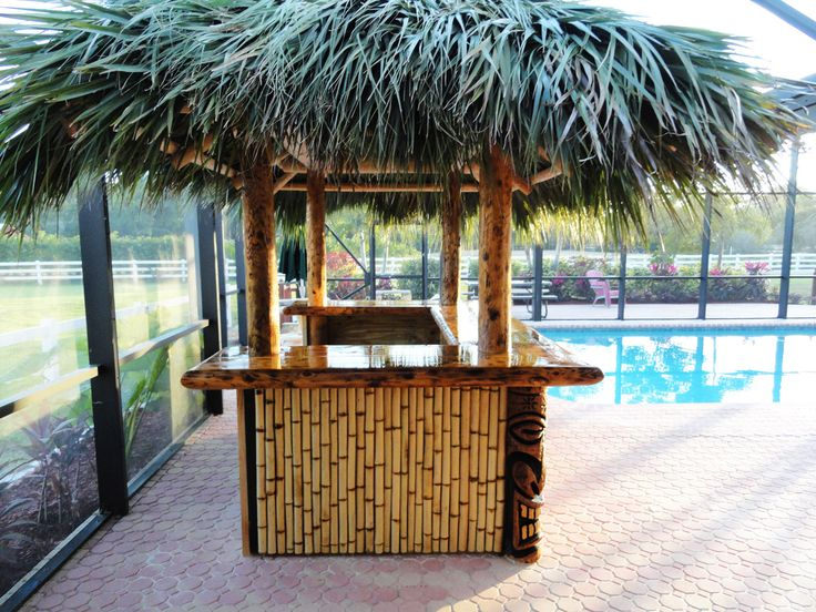 this image is the perfect depiction of a tiki bar or a tiki hut even though