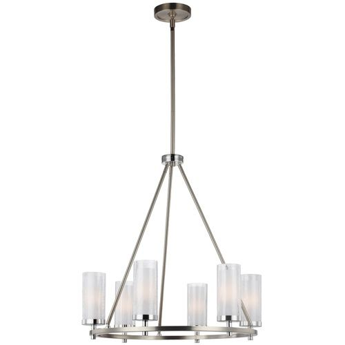 Feiss mf29856snch jonah mid sized chandelier chandelier satin nickel chrome at shop ferguson