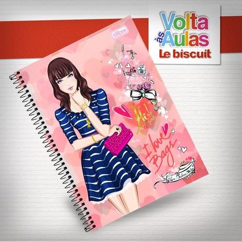 Caderno para as meninas fashionistas! Sua filha adolescente com certeza vai curtir ;)