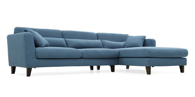 Lewis Sectional Sofa (Blue)