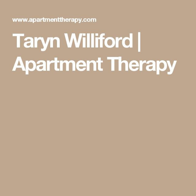 Taryn Williford | Apartment Therapy