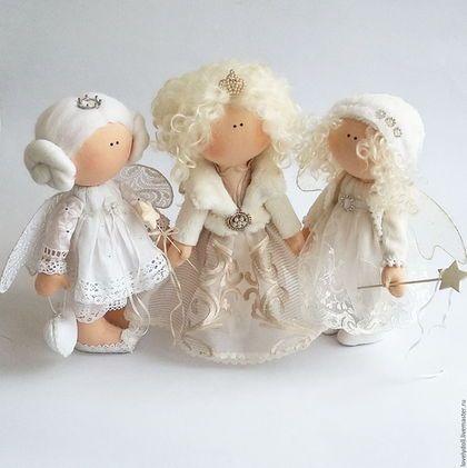 Коллекционные куклы ручной работы. Ангел. Светлана Рубин. Ярмарка Мастеров. Подарок ко дню влюбленных, трикотаж белый ангел