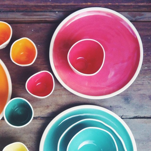 #ceramics #handmade #colorsplash #polishdesign
