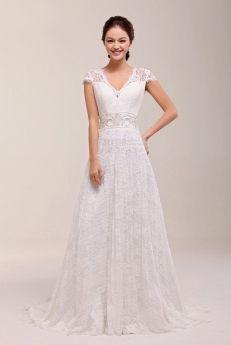 Boheminspirerad brudklänning med spets