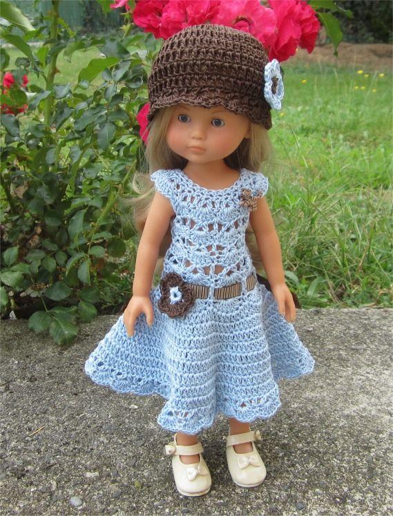 98- FICHE PATRON Tenue Pomme au crochet pour poupée Chérie de Corolle ou Paola…