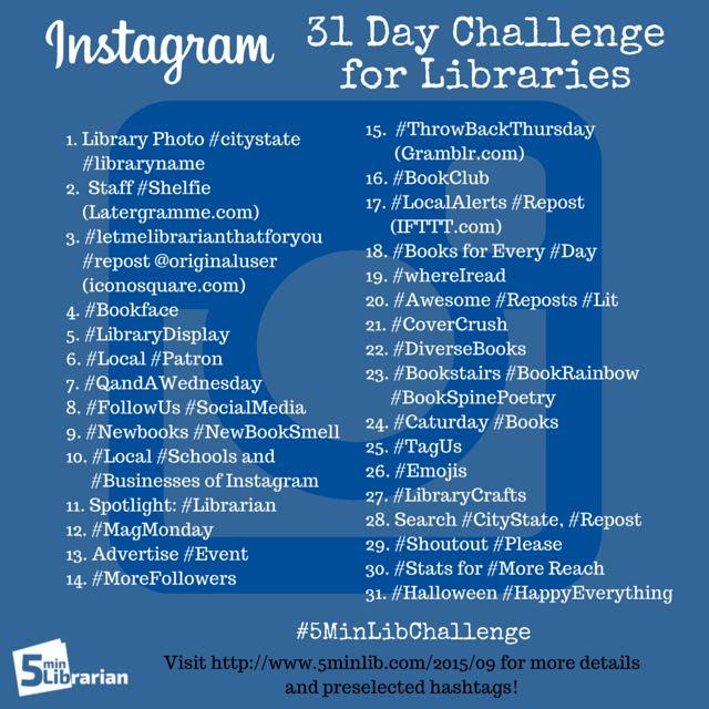 5 Minute Librarian: 31 Days of Instagram Challenge