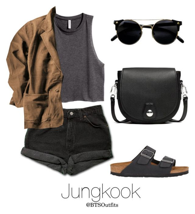 Zoo with Jungkook by btsoutfits on Polyvore featuring H&M, Levi's, Birkenstock and rag & bone
