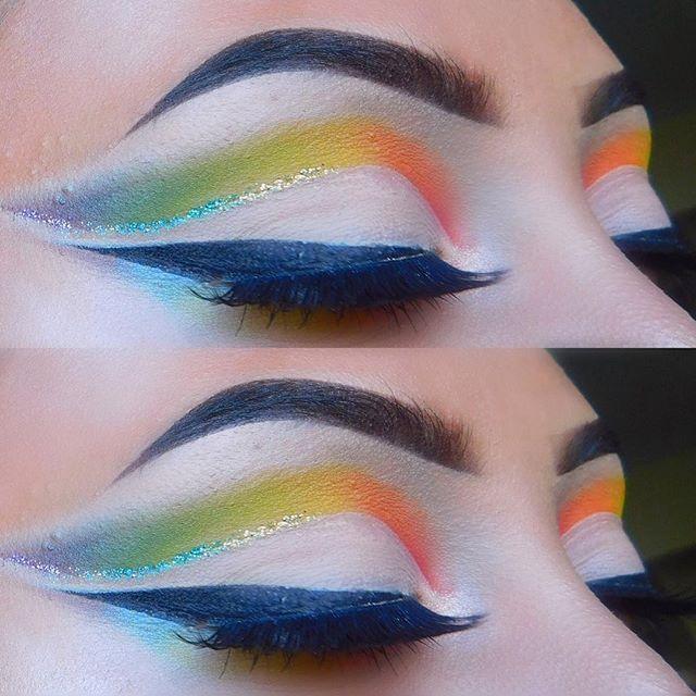 WEBSTA @ makeupbykiarac - Can't get enough of this❤️💛💚💙💜E Y E S :_________________ ❤️- @frankierosecosmetics eyeshadow palette in electric 💛- @tartecosmetics Amazonian clay palette 💚- @morphebrushes morphe brush set💙- @lorealmakeup loreal telescopic mascara 💜- @amyjunelashes in Savannah 🍭🍭🍭#makeup #undiscovered_muas #eyeshadow #tarte #ecobrow #kyliecosmetics #katvondlolita #katvond #smashbox #nyx #bareminerals #Mac #toofaced #morphe #lashpoplashes #elf #lashes #eyeliner #covergirl…
