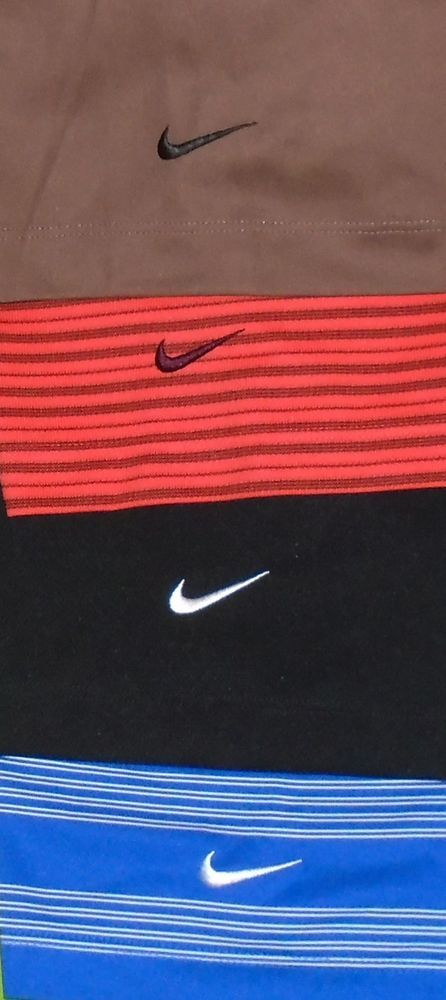 Lot of 4 Nike Golf Dri-Fit or Fit-Dry Polo Shirt w/Sponsor Logo S/S Men sz Small #NikeGolf #PoloRugby