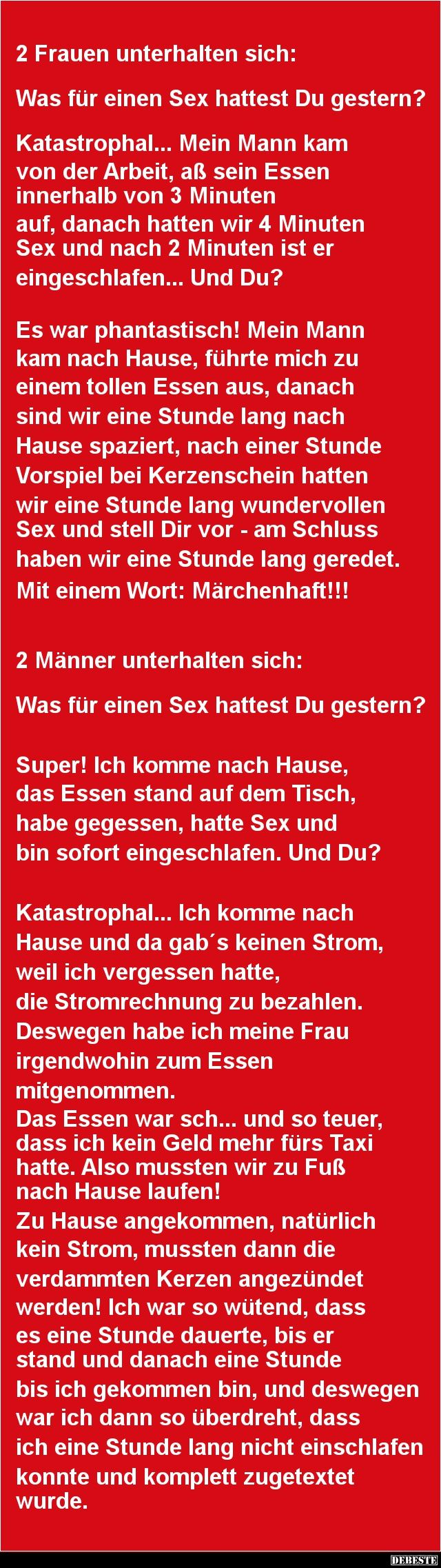 2 Frauen unterhalten sich:   DEBESTE.de, Lustige Bilder, Sprüche, Witze und Videos