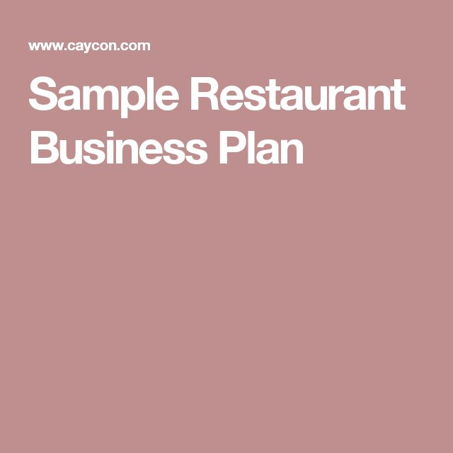The 25+ best Restaurant business plan sample ideas on Pinterest - bar business plan