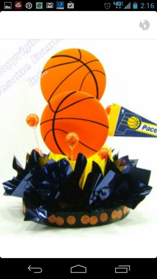 DIY Centerpiece Kits For Your Basketball Theme Party Or Event. Basketball  Theme Supplies For Your Bat Mitzvah Table Decorations