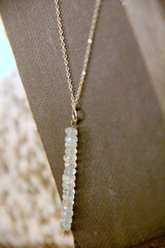 GENUINE Raw Aquamarine Necklace Healing Crystal Natural Yoga Jewelry healing jewelry healing bracelet fluorite jewelry positive energy