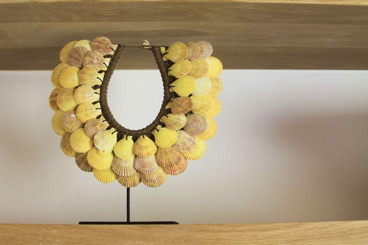 Ocean House, Morukuru, South Africa. Shell necklaces from Amatuli Artefacts.  #OceanHouse #DeHoop #SouthAfrica #necklaces #Africa #shell #decor #design #Africa