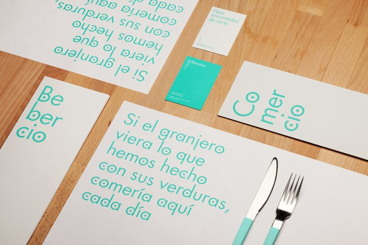 Logotype and print designed by Mucho for Barcelona based Deli restaurant and all day cafe La Florentina