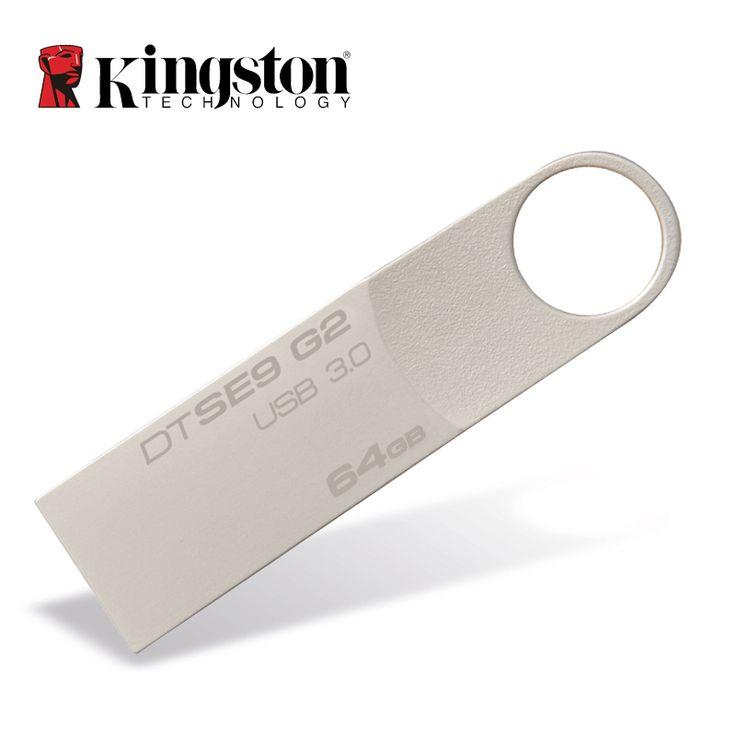 Kingston USB Flash Drive Pendrive Stick DTSE9G2 8GB 16GB 32GB 64GB 128GB 3.0 Pen Drive Mental Ring Memory Flash Memoria //Price: $0.00//     #shop