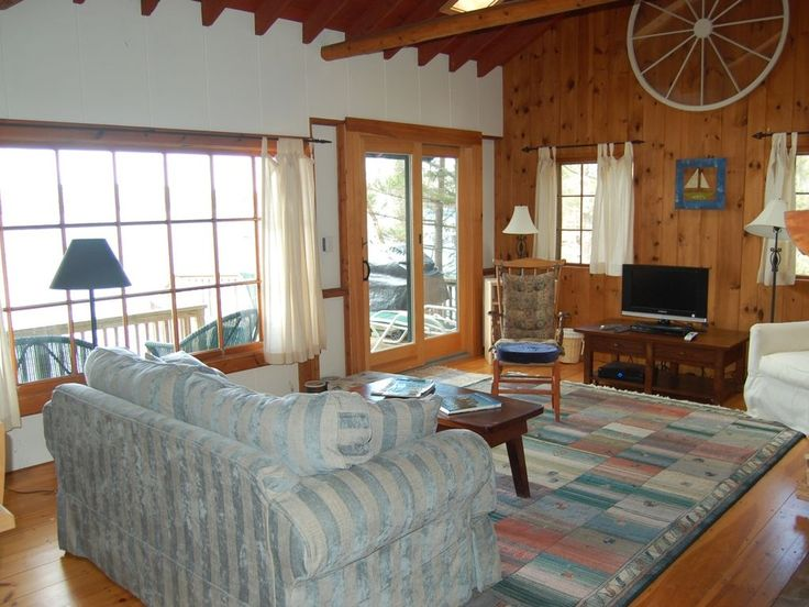 Waterfront Cottage with Sunsets, Hot Tub and Dock access. This cottage is feet from the water in serene Long Cove on the Damariscotta River.  The deck and h...
