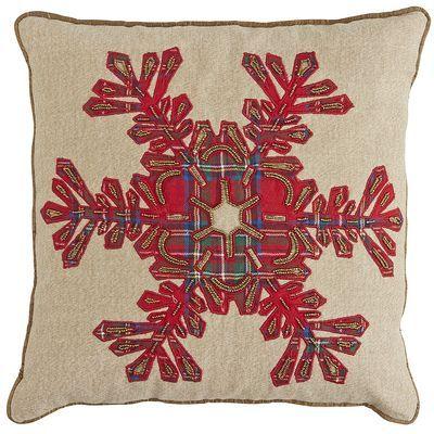 Tartan Snowflake Pillow