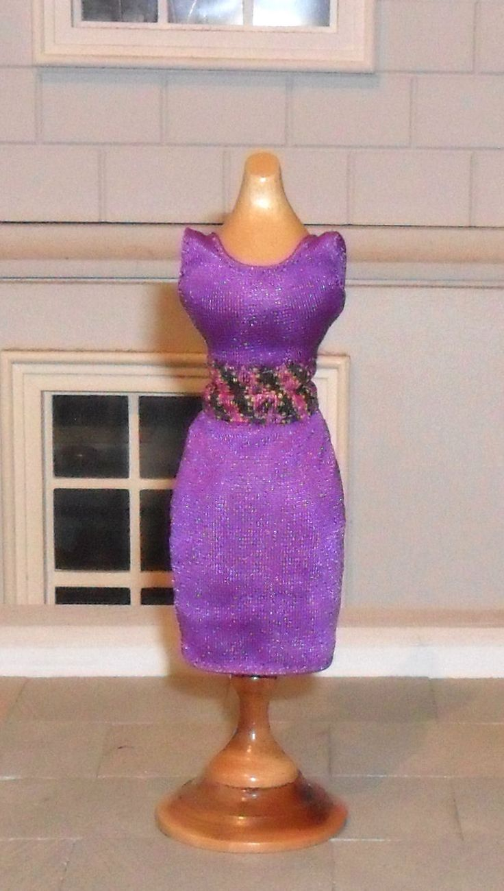 1/12TH SCALE DOLLS' PURPLE DRESS | eBay