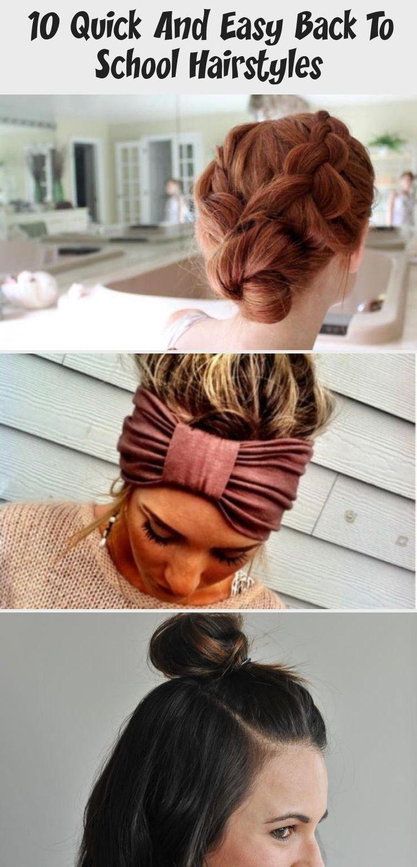 10 coiffures rapides et faciles pour la rentrée des classes, #les #differenthairstylesforteens #ei ...