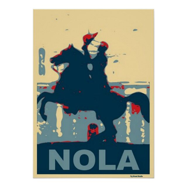 Jackson Square-NOLA Poster by Fig Street Art