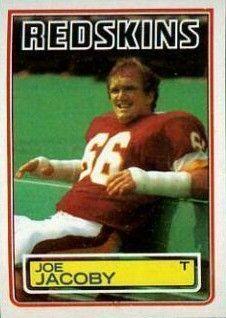 Washington Redskins Players all-time | Joe Jacoby 1983 Topps #190 Rookie Card - Washington Redskins