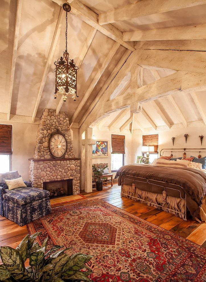 Rustic, romantic bedroom