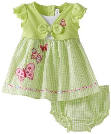 Youngland Baby-Girls Infant Mock Butterfly Seersucker Sundress: Amazon.com: Clothing