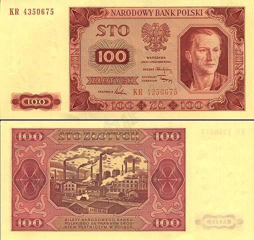 100 złotych najstarsze