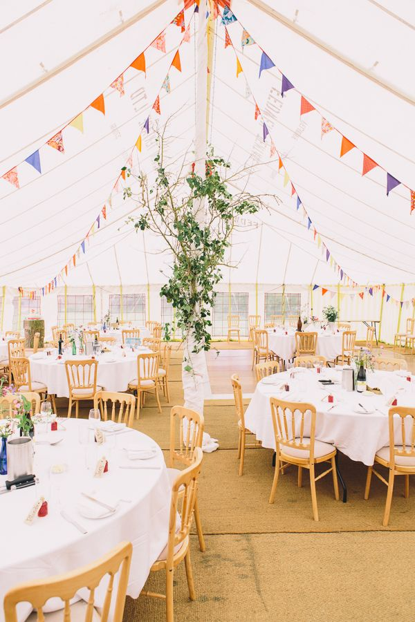 Seaside Farm Wales Wedding Marquee Bunting http://www.wellingsweddings.com/