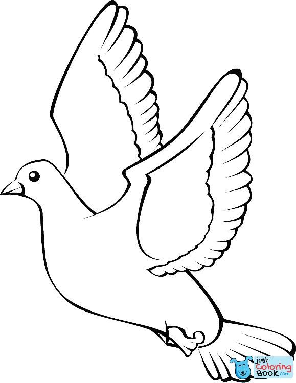 Flying Dove Coloring Page Coloring Pages Bird Coloring Pages