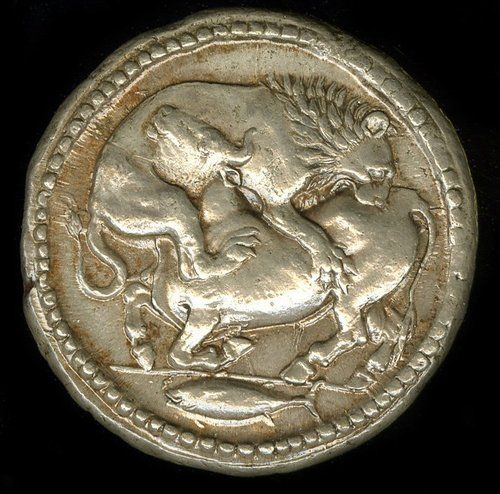 Greek. 500BC-424BC. Silver. Minted in Acanthus (Macedon).