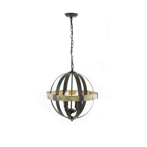 Artcraft Castello Black And Aspen Wood Four Light 20 Inch Wide Chandelier On SALE