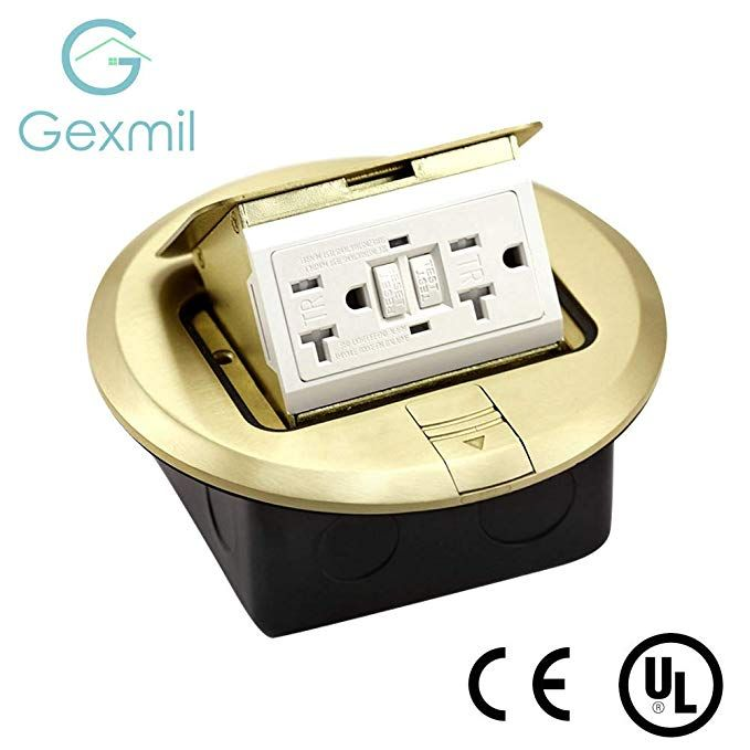 Multi-Application Electrical Floor Outlet Boxes Brass Cover