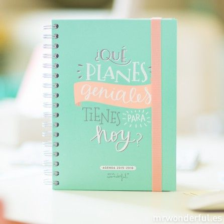 Conoce la nueva Agenda Mr Wonderful