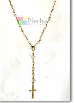 e015f9a4c03 Como hacer un rosario con cristales engarzados