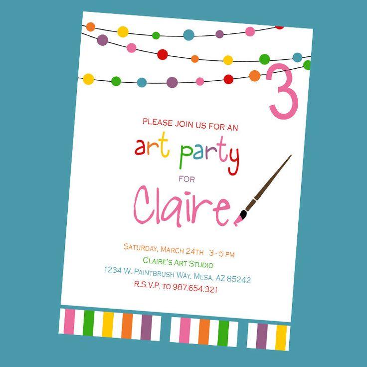 17 Best images about Art party – Art Party Invitation