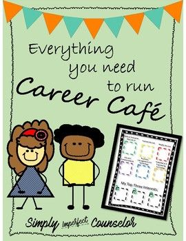 Elementary School Counseling | School Counselors | College and Career Readiness |Career Cafe Packet with Career Interest Survey