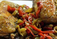 Κοτόπουλο με μπύρα και πιπεριές(3 μονάδες)