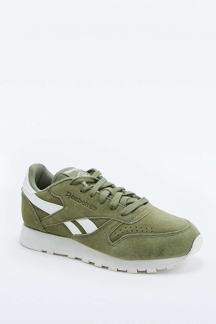 Reebok Classic Green Suede Trainers