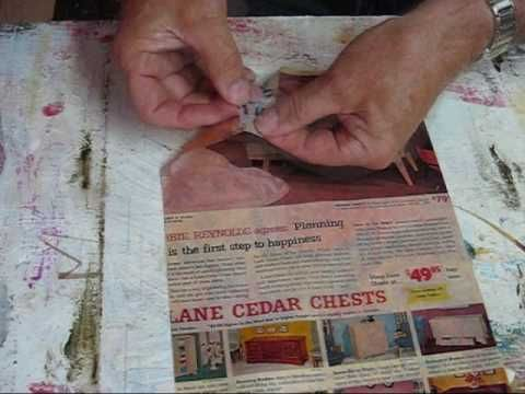 How to create Transparencies from magazine pages & transfer them onto Textured Joint Compound Paintings - Video Tutorial