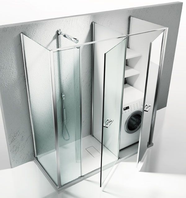 17 best images about une buanderie dans ma salle de bains - Machine a laver dans salle de bain ...