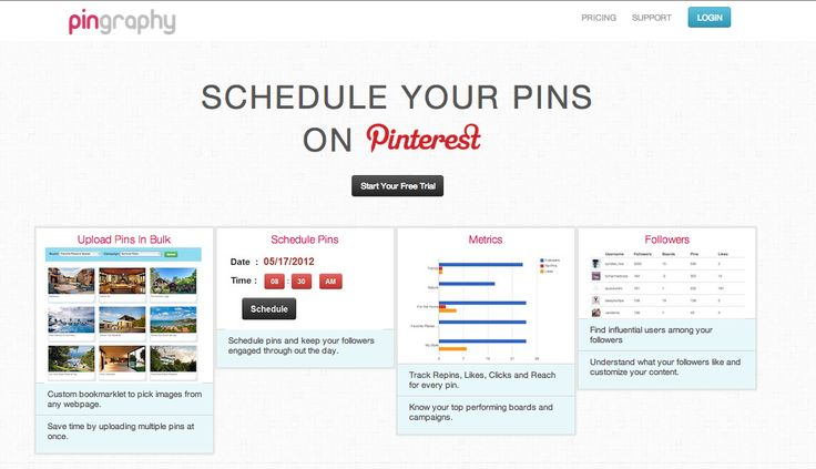 Schedule pins on #pinterest using pingraphy.com