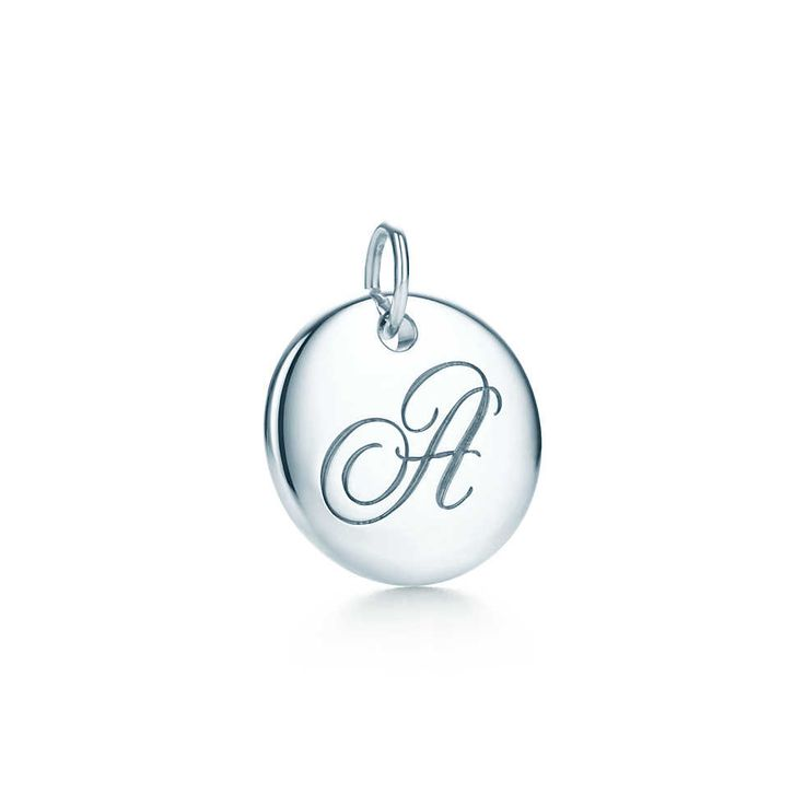 Tiffany Notes alphabet disc charm in silver - Tiffany & Co. One for each of our initials......