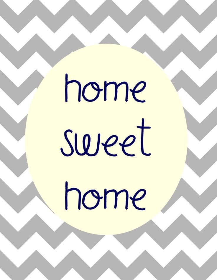 free printable! {home sweet home} gray & navy 8 X 10