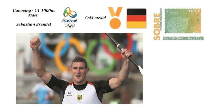 Spain 2016 - Olympic Games Rio 2016 - Gold medal Canoeing male Germany cover