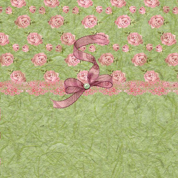 """""""Vintage Elegant Soft Pink Roses"""" by Debra Miller."""